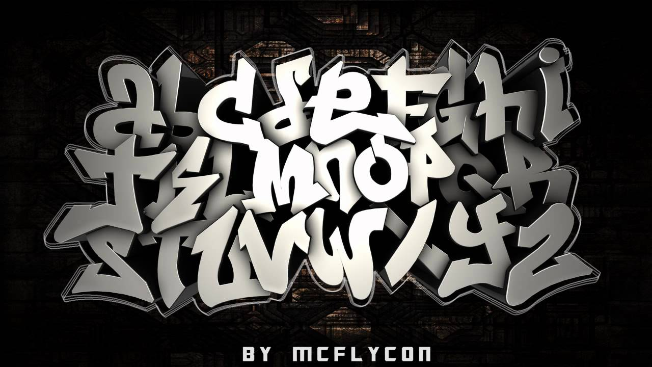 Graffiti alphabet pentool pack lettres pour cinema4d - L alphabet en graffiti ...