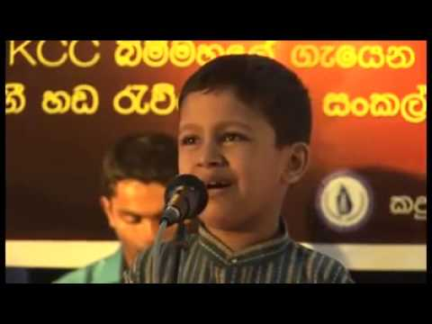 මම ගියා අවුකන බුදුන්ටත් Blind Sri Lankan Boy Singing