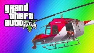 GTA 5 Online Funny Moments Helicopter Windmill