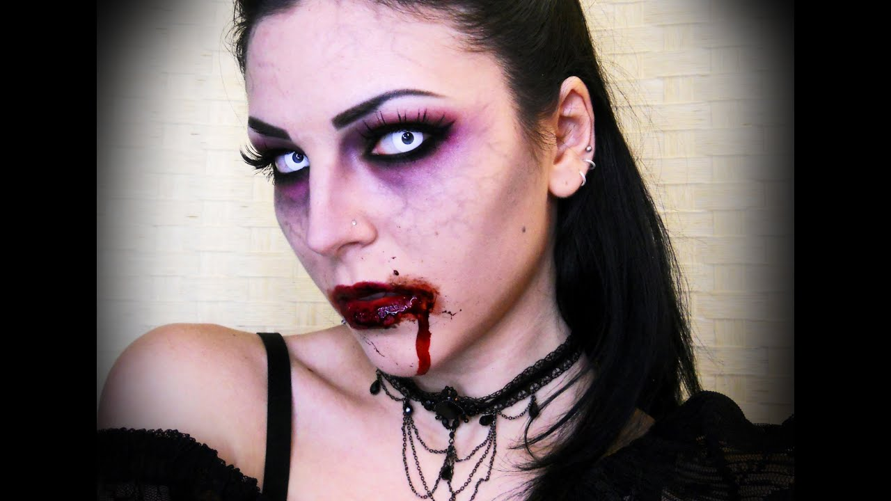 Sexy Vampire : Halloween Makeup - YouTube