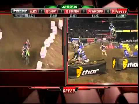 2012 Anaheim AMA Supercross Round 1 - SX Main Event (Part 1-3)