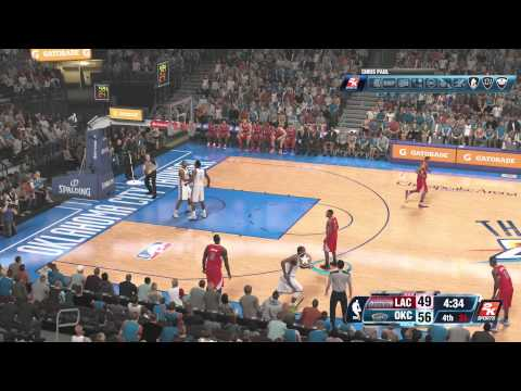 NBA 2K14 Online   Thunder Vs Clippers Gameplay - ZFarls Xbox One Comeback!