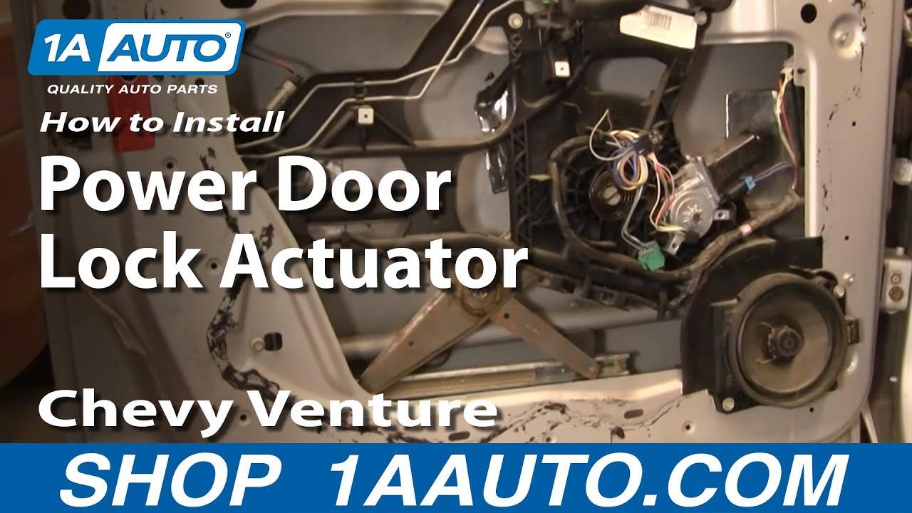How To Install Replace Power Door Lock Actuator Chevy