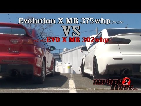 Evolution X MR 375whp vs EVO X MR 302whp