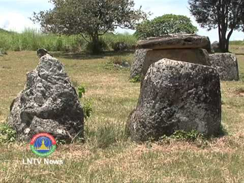 Lao NEWS on LNTV-Lt.Gen. Jerry Matepare handover Plain of Jars visitor center.14/8/2013