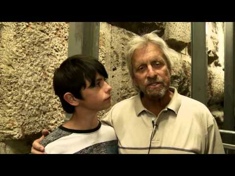 Michael Douglas visits the City of David