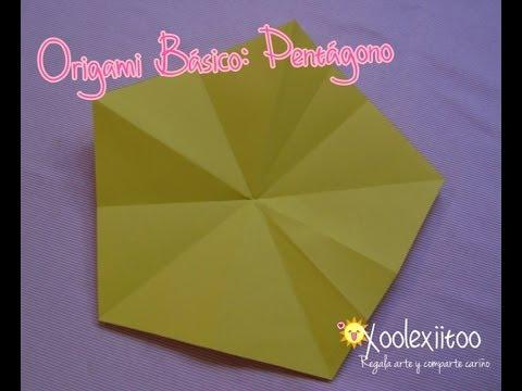 @xoOlexiitOo... ❥ Origami Básico Pentágono  ¿Cómo hacer un pentágono con un cuadrado?