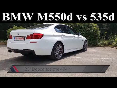 BMW F10 M550d xDrive vs 535d - Probefahrt - Test - Drive - Review - 381 PS - Acceleration