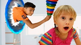 Alena and Pasha find magic portal - Funny kids stories by Chiko TV