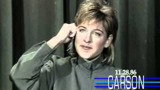 Johnny Carson: Ellen DeGeneres, 1986