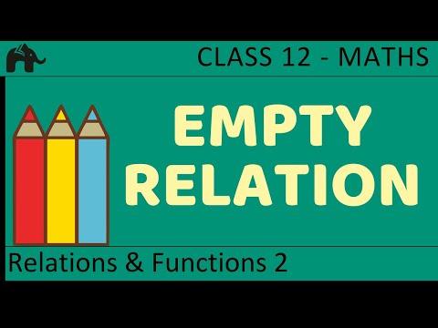 Maths Relations & Functions part 2 ( Empty Relation) CBSE class 12 Mathematics