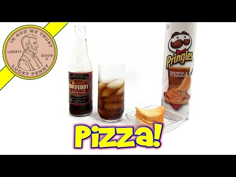 Pringles Pizza Flavor With MacFuddy Pepper Elixir Drink