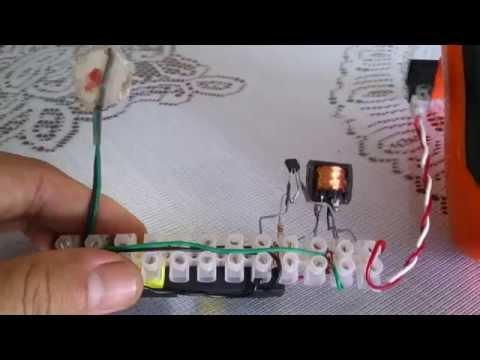 Chế mạch nâng áp đơn giản bằng các linh kiện tái chế thắp sáng LED 1W