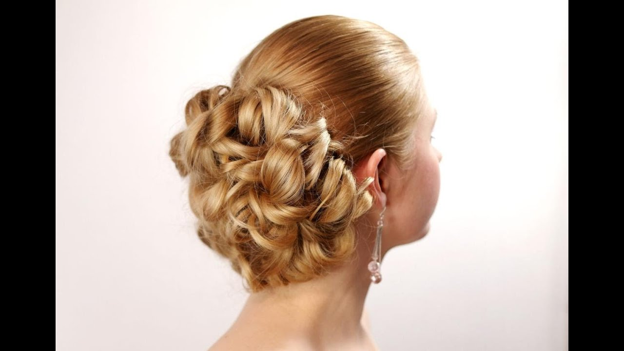 Wedding prom hairstyles for long hair. - YouTube