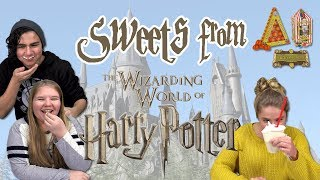 German Teens try Harry Potter Sweets (Jelly Beans, Butterbeer)