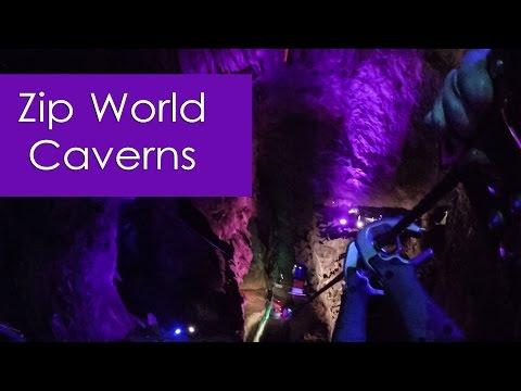 Zip World Caverns: Underground Zipline Adventure, Llechwedd Slate Mine, Blaenau Festiniog, Wales
