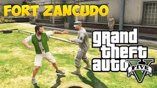 GTA V Glitches Easter Eggs Como Invadir A BASE MILITAR