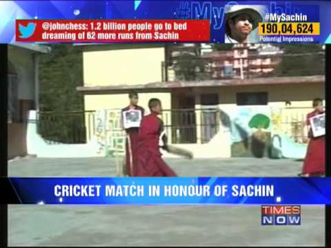 Monks pay special tribute to Sachin Tendulkar