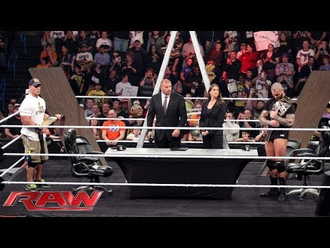 John Cena and Randy Orton sign the contract for their TLC Match: Raw, Dec. 2, 2013