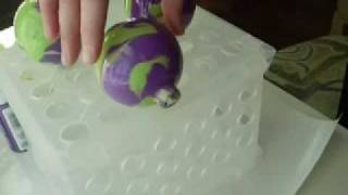 Marbled Ball Ornament Tutorial