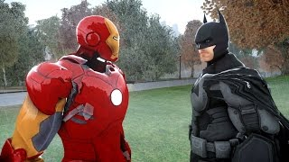 BATMAN VS IRON MAN - EPIC SUPERHEROES BATTLE