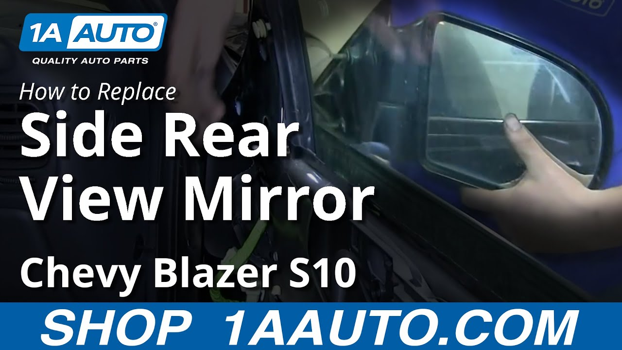How To Install Replace 2 Door Side Rear View Mirror Chevy