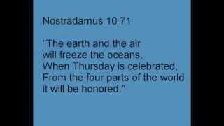 Nostradamus Prophecy 10 71 May Predict Earth Freezing In A