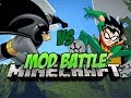 Minecraft: SUPER HERO MOD BATTLE! - Batman vs Robin