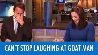 TRY NOT TO LAUGH AT GOAT MAN ON LIVE TV
