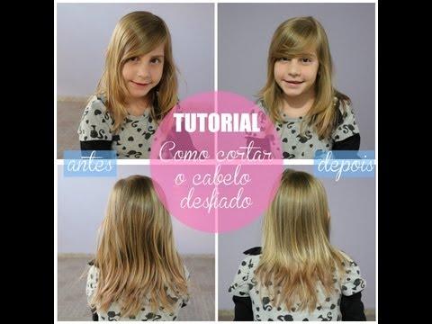 Cortar o cabelo desfiado/repicado