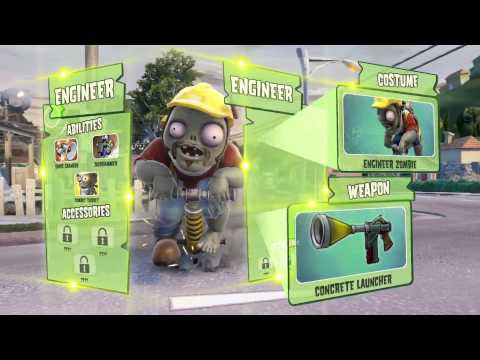 Trailer game Plants vs Zombies: Garden Warfare