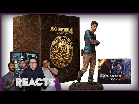 Unboxing Uncharted 4's Ultimate Collector's Edition - Kinda Funny Reacts