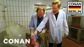 Conan Trains To Become A Sausage Master  - CONAN on TBS