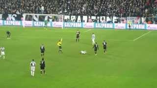 06/03/2013 - Champions League - Juventus-Celtic Glasgow 2-0, il gol di Quagliarella (riprese di pagno1972)