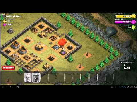 Clash of Clans Walls of Steel Guide - Town Hall 5 - 3 Stars