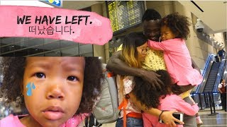 WE HAVE LEFT FOR KOREA *emotional goodbye with daddy* | Kenyan/Korean family vlog ep. 168