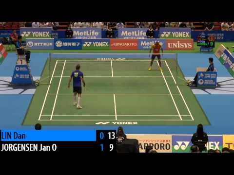 QF - MS - Jan O Jorgensen vs Lin Dan - 2014 Badminton Japan Open