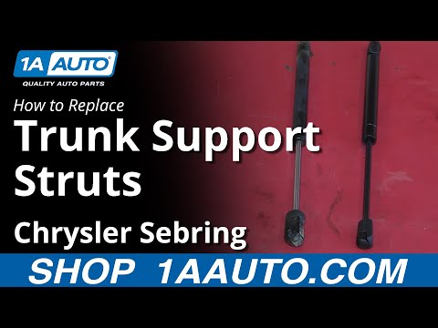 How To Install Replace Fix Sagging Trunk Lid Support Struts 2001-06 Chrysler Sebring