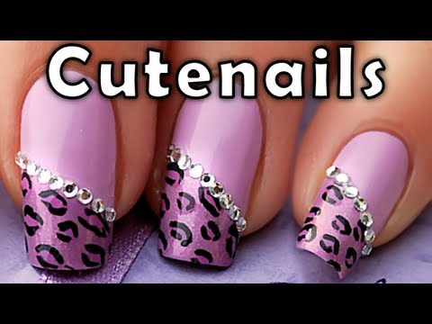 Purple Leopard Cheetah Nail Art Designs Tutorial By Cute Nails