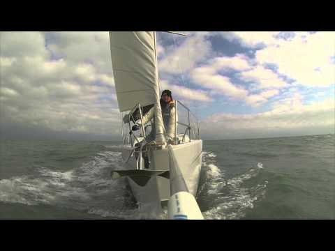 Maiden Voyage of the Sailing Yacht Matilda - North Sea, February 2014