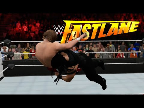 WWE Fast Lane 2015: Daniel Bryan vs. Roman Reigns FULL MATCH【WWE 2K15】
