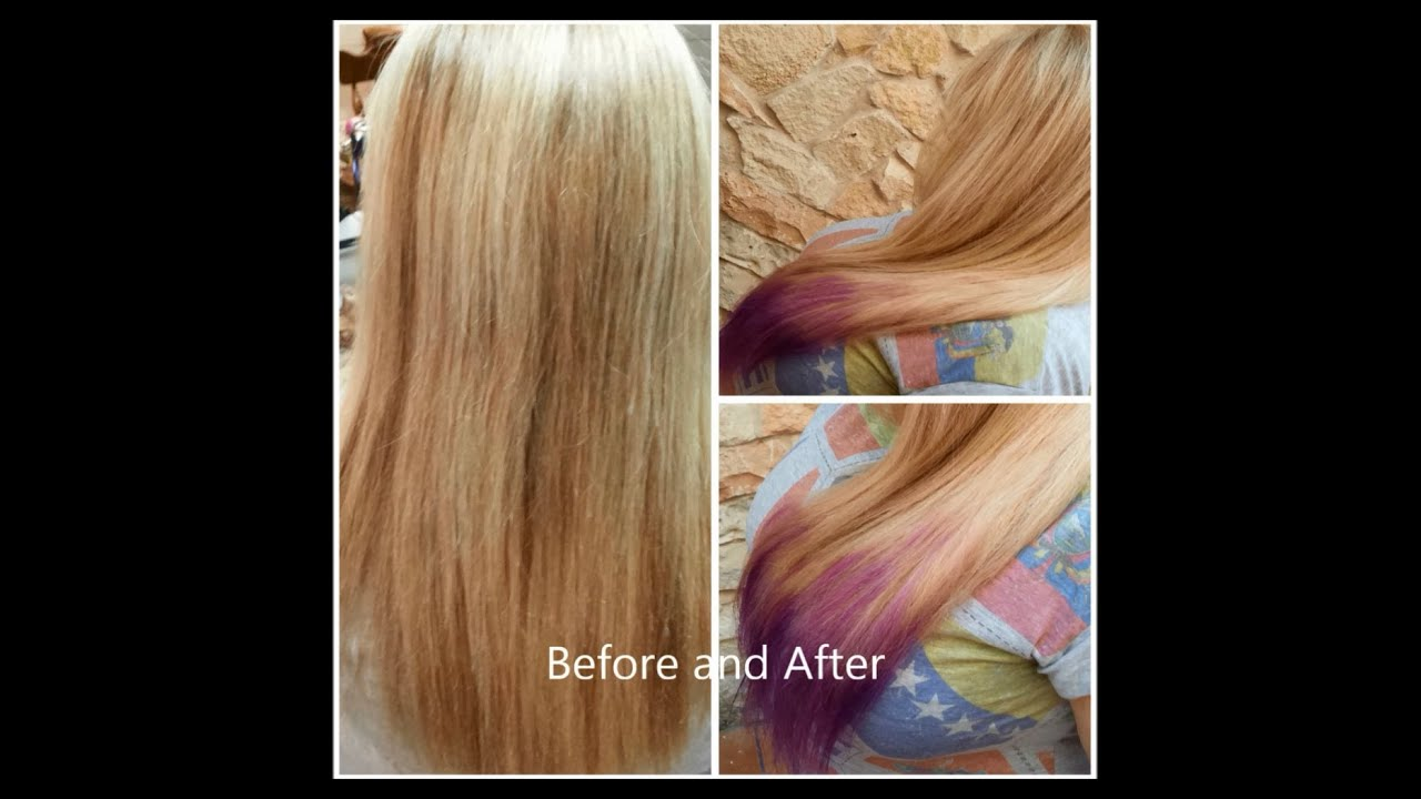 Diy Ombre Hair Tutorial For Blonde Hair Lilac Purple Youtube