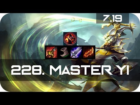 Master Yi Jungle vs Master Yi Season 7 s7 Patch 7.19 2017 Gameplay Guide Build Normals