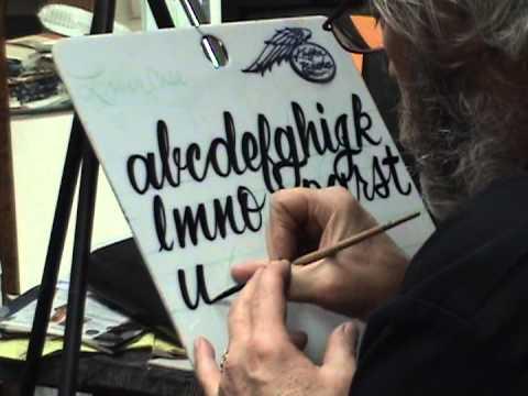 steve kafka39s lower case alphabet demo youtube With steve kafka lettering brushes