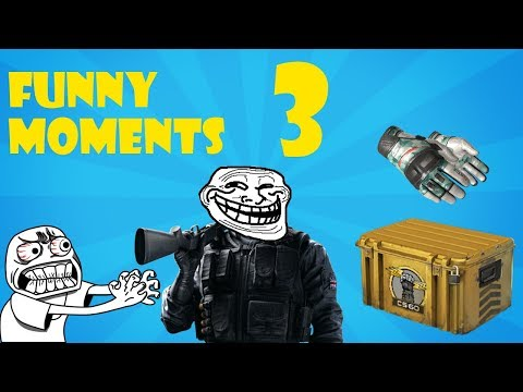 CS GO Highlights and funny moments 3 (Unboxing gloves) (Re-upload)