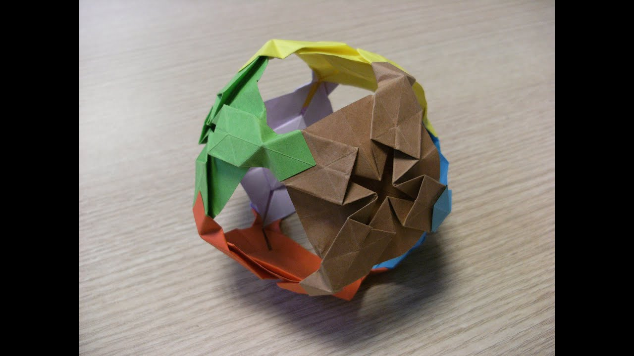 3d origami ball how to make youtube