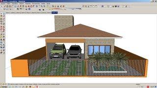 Vídeo Aula 180ª Modelo De Residencia SketchUp 8