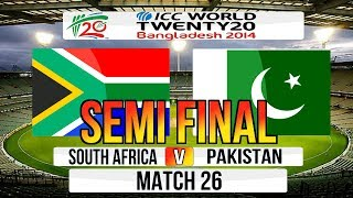 ICC T20 World Cup 2014 Semi Final South Africa V