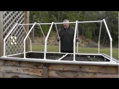 Build A Mini Greenhouse For Raised Beds