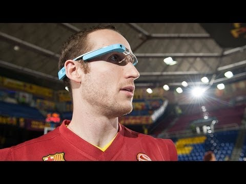 Euroleague action through Google Glass